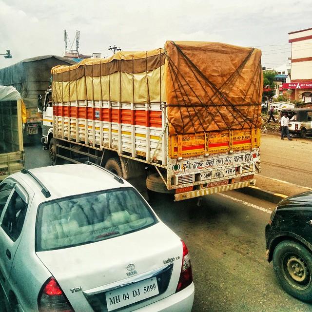 bbb9070831e Buri nazar waale tera muh kaala.  pune  roadtrip  traffic  India   incredibleindia